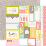 Echo Park - Dearest Collection - 12 x 12 Double Sided Paper - Journaling Cards