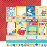 Echo Park - Toy Box Collection - 12 x 12 Double Sided Paper - Jump