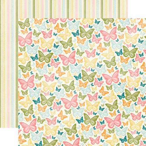 Echo Park - Hello, Spring Collection - 12 x 12 Double Sided Paper - Butterfly