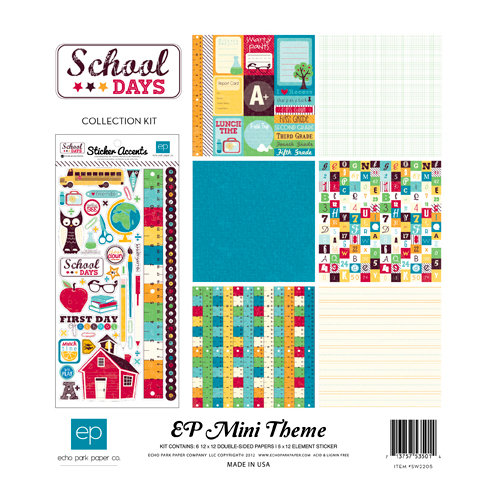 Echo Park - School Days Collection - 12 x 12 Collection Kit