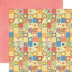 Echo Park - Grandma's Kitchen Collection - 12 x 12 Double Sided Paper - Grandma's Quilt