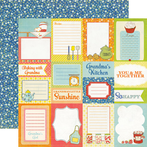 Echo Park - Grandma's Kitchen Collection - 12 x 12 Double Sided Paper - Grandma's Journaling