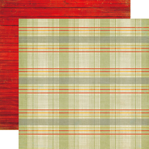 Echo Park - Grandpa's Tool Shed Collection - 12 x 12 Double Sided Paper - Grandpa's Plaid