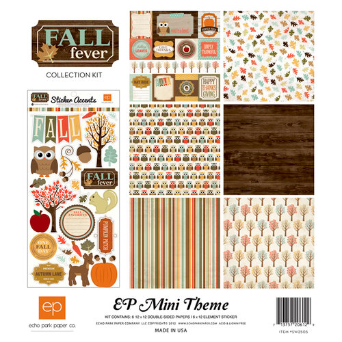 Echo Park - Fall Fever Collection - 12 x 12 Collection Kit