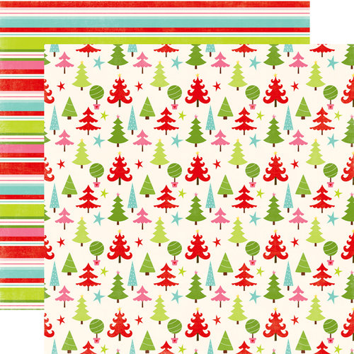 Echo Park - Happy Holidays Collection - 12 x 12 Double Sided Paper - Trees