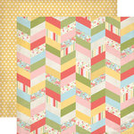 Echo Park - Sisters Collection - 12 x 12 Double Sided Paper - Chevron