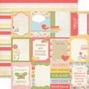 Echo Park - Sisters Collection - 12 x 12 Double Sided Paper - Sisters Journaling Cards