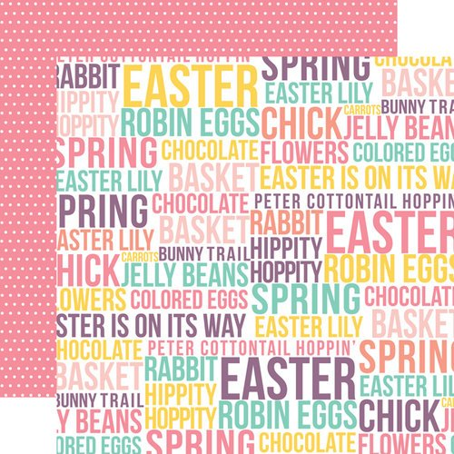 Echo Park - Easter Collection - 12 x 12 Double Sided Paper - Words