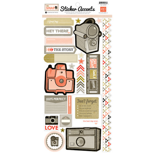 Echo Park - Oh, Snap Collection - Cardstock Stickers