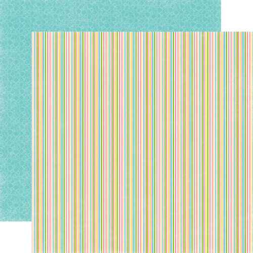 Echo Park - Birthday Girl Collection - 12 x 12 Double Sided Paper - Stripe