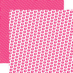 Echo Park - Pretty in Pink Collection - 12 x 12 Double Sided Paper - Primrose Pink