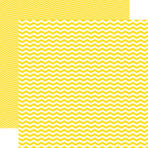 Echo Park - Yellow Submarine Collection - 12 x 12 Double Sided Paper - Yellow Chevron