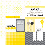 Echo Park - Yellow Submarine Collection - 12 x 12 Double Sided Paper - Yellow Journaling