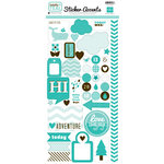 Echo Park - Totally Teal Collection - Cardstock Stickers