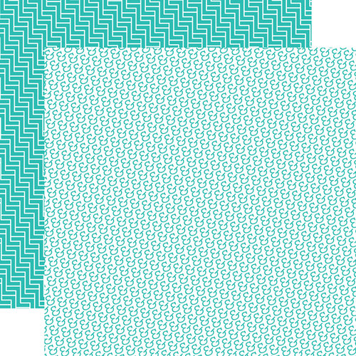 Echo Park - Totally Teal Collection - 12 x 12 Double Sided Paper - Totally Teal