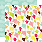 Echo Park - Lets Picnic Collection - 12 x 12 Double Sided Paper - Kites