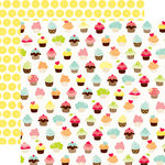 Echo Park - Lets Picnic Collection - 12 x 12 Double Sided Paper - Cupcakes