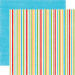 Echo Park - Birthday Boy Collection - 12 x 12 Double Sided Paper - Stripe