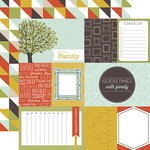 Echo Park - Family Reunion Collection - 12 x 12 Double Sided Paper - Journaling