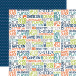 Echo Park - Game On Collection - 12 x 12 Double Sided Paper - Words