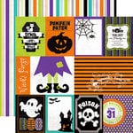 Echo Park - Ghost Town Collection - Halloween - 12 x 12 Double Sided Paper - Journaling