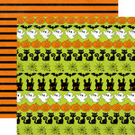Echo Park - Ghost Town Collection - Halloween - 12 x 12 Double Sided Paper - Ghosts and Pumpkins