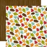 Echo Park - I Heart Fall Collection - 12 x 12 Double Sided Paper - Leaves