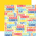 Echo Park - Beach Party Collection - 12 x 12 Double Sided Paper - Words