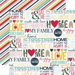 Echo Park - Our Family Collection - 12 x 12 Double Sided Paper - Words
