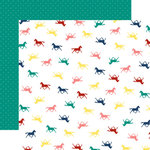 Echo Park - My Little Girl Collection - 12 x 12 Double Sided Paper - Little Horses
