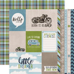 Echo Park - My Little Boy Collection - 12 x 12 Double Sided Paper - Journaling Cards