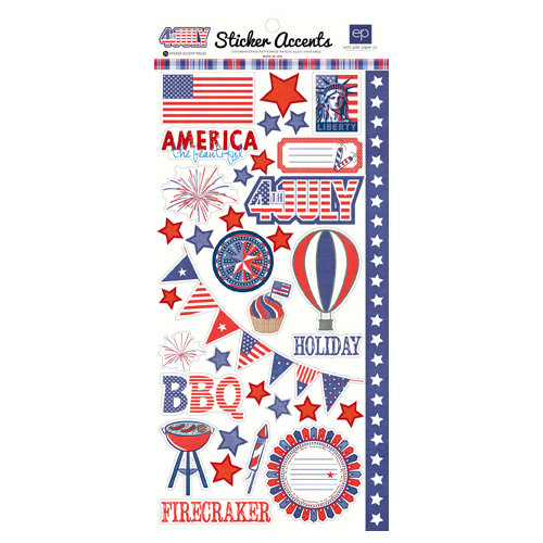 Echo Park - 4th of July Collection - Cardstock Stickers
