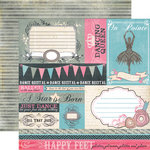 Echo Park - Le Ballet Collection - 12 x 12 Double Sided Paper - Journaling