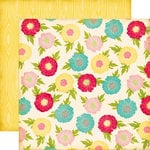 Echo Park - Sweet Girl Collection - 12 x 12 Double Sided Paper - Flower Garden