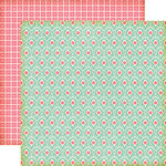 Echo Park - Sweet Girl Collection - 12 x 12 Double Sided Paper - Lace Damask