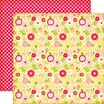 Echo Park - Sweet Girl Collection - 12 x 12 Double Sided Paper - Sweet Clover