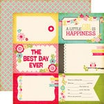 Echo Park - Sweet Girl Collection - 12 x 12 Double Sided Paper - 4 x 6 Journaling Cards