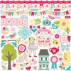 Echo Park - Sweet Girl Collection - 12 x 12 Cardstock Stickers - Elements