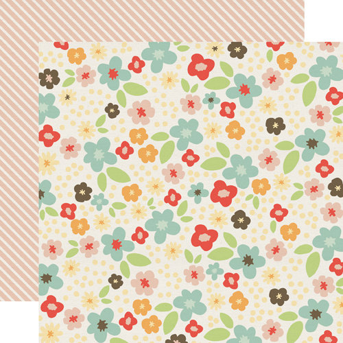Echo Park - Sweet Day Collection - 12 x 12 Double Sided Paper - Fancy Floral