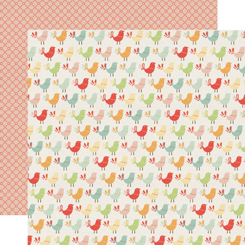Echo Park - Sweet Day Collection - 12 x 12 Double Sided Paper - Sweet Bird