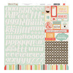 Echo Park - Sweet Day Collection - 12 x 12 Cardstock Stickers - Alphabet