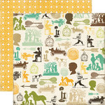 Echo Park - This and That Collection - Charming - 12 x 12 Double Sided Paper - Vintage Boy