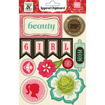 Echo Park - This and That Collection - Graceful - Layered Chipboard Stickers