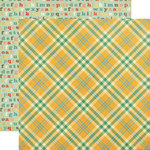 Echo Park - Teacher's Pet Collection - 12 x 12 Double Sided Paper - Yellow Plaid