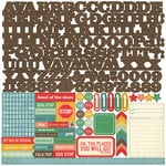Echo Park - Teacher's Pet Collection - 12 x 12 Cardstock Stickers - Alphabet