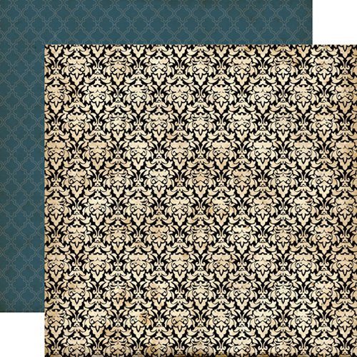 Echo Park - Times and Seasons Collection - 12 x 12 Double Sided Paper - Fancy Damask
