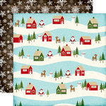 Echo Park - The Story of Our Christmas Collection - 12 x 12 Double Sided Paper - Village