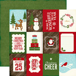 Echo Park - The Story of Our Christmas Collection - 12 x 12 Double Sided Paper - 3 x 4 Journaling Cards
