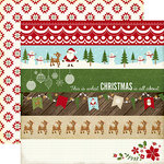 Echo Park - The Story of Our Christmas Collection - 12 x 12 Double Sided Paper - Borders