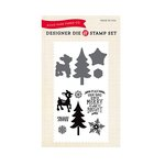 Echo Park - The Story of Christmas Collection - Designer Die and Clear Acrylic Stamp Set - Merry and Bright